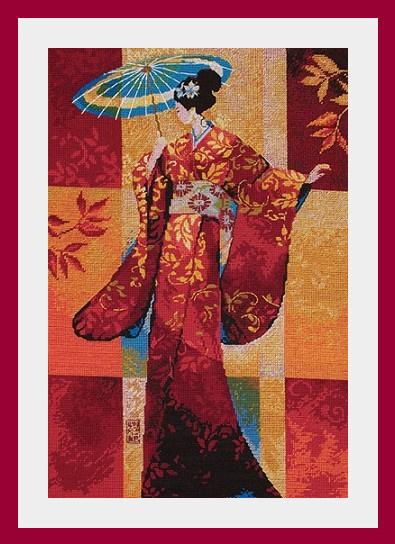 Схема вышивания крестом - Misaki