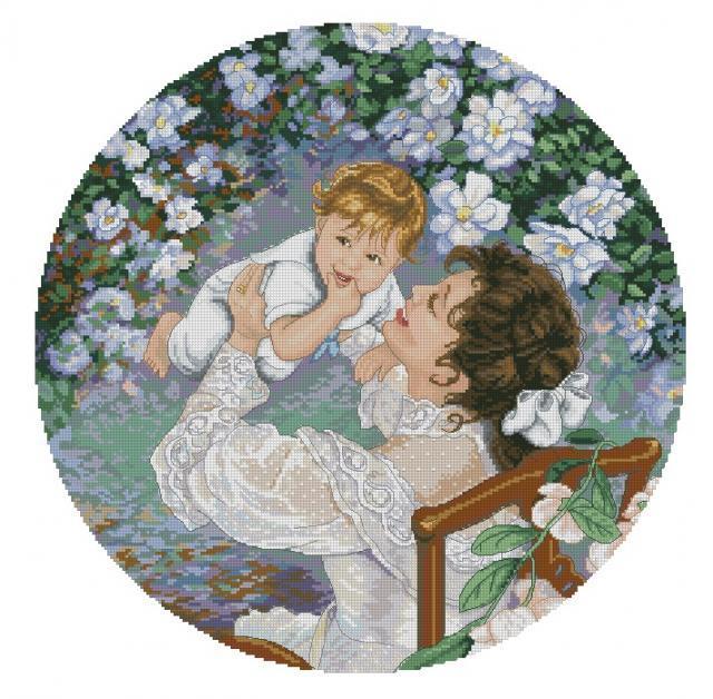 Схема вышивания крестом - Мать и дитя