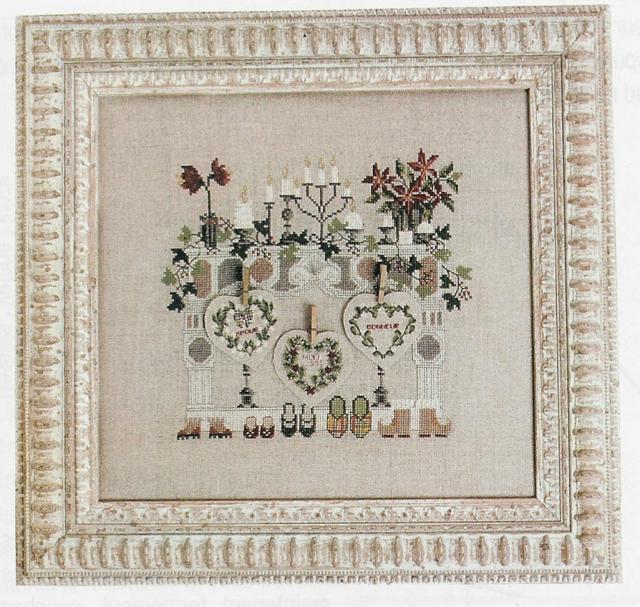 Схема вышивания крестом - Рождественский мотив