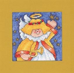 Схема вышивания крестом - Рождественский ангел