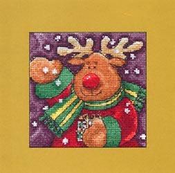 Схема вышивания крестом - Рождественский олень