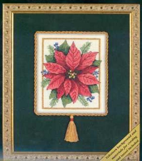 Схема вышивания крестом - Рождественский цветок