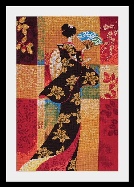 Схема вышивания крестом - Sakura