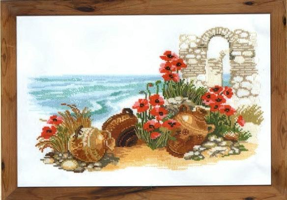 Схема вышивания крестом - Солнечный берег