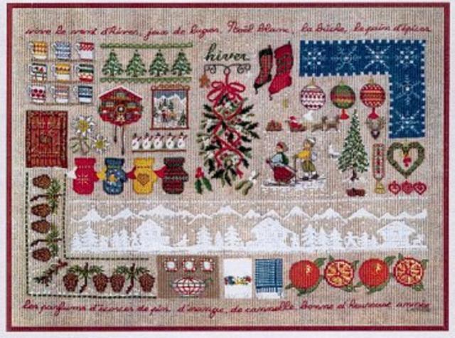 Схема вышивания крестом - Рождественские мотивы