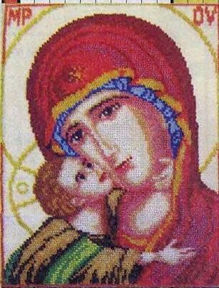 Схема вышивания бисером - Игоревская икона Божьей Матери