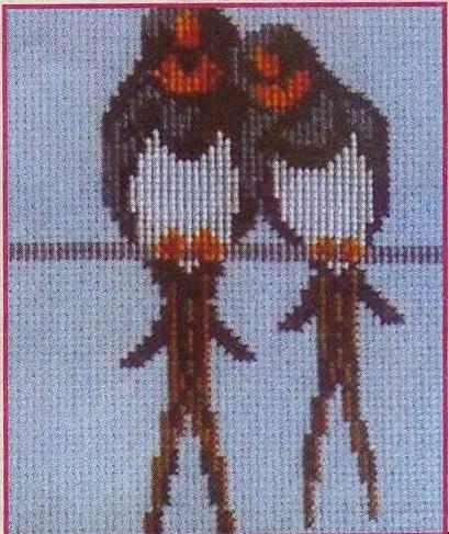Схема вышивания бисером - Ласточки