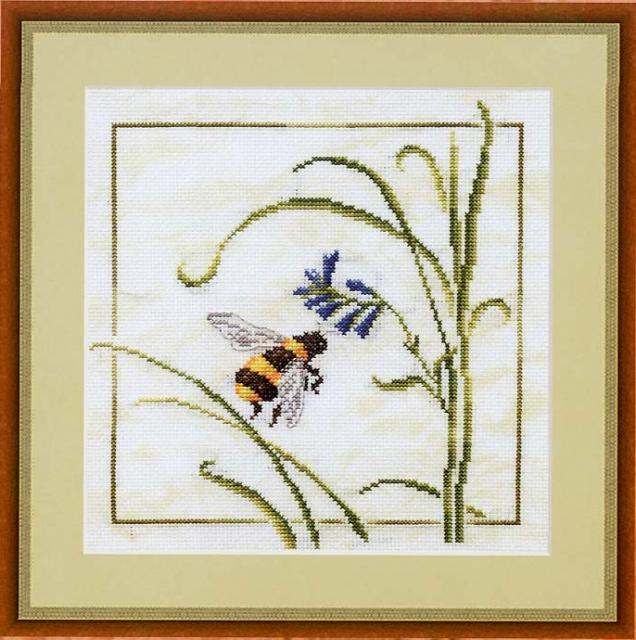 Схема вышивания крестом - Пчела