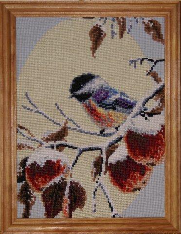 Схема вышивания крестом - Яблоки в снегу