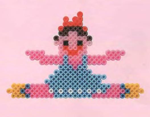 Балерина из термомозаики