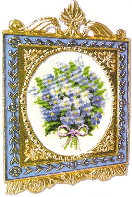 Схема вышивания крестом - Букетик