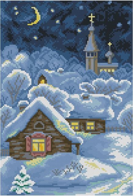 Схема вышивания крестом - Рождественская сказка