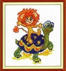 Схема вышивания крестом - Львёнок