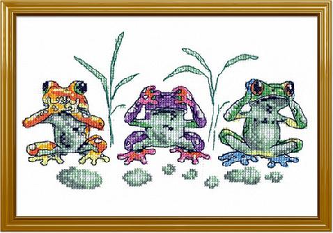 Скачать вышивку лягушки