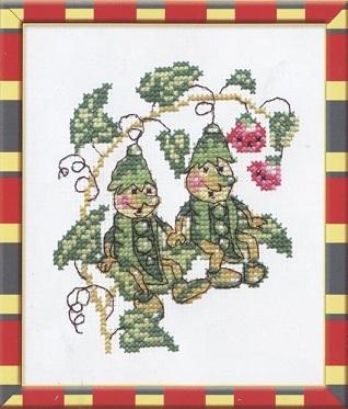Схема вышивания крестом - Крошки-горошки