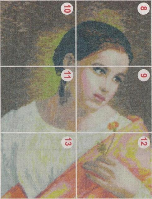 Схема вышивания бисером - Девушка с цветком