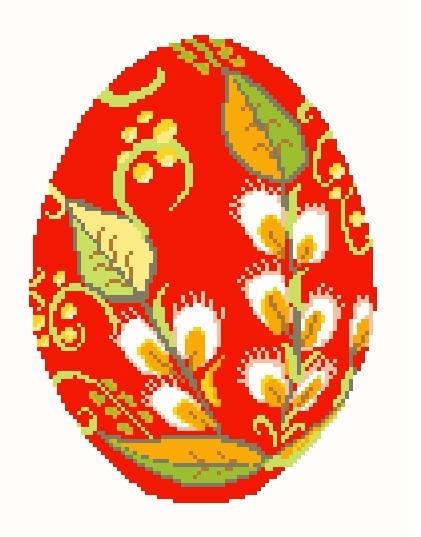 Схема вышивания крестом - Пасхальное яйцо