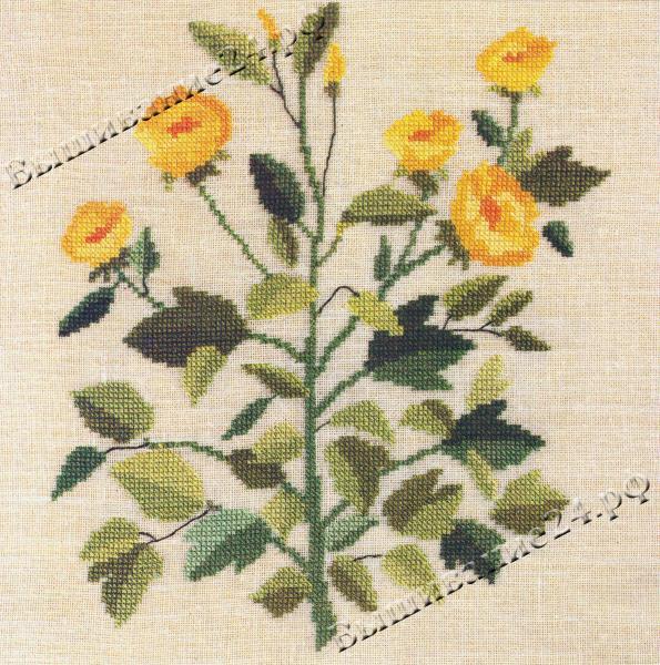 Схема вышивания крестом - Редутея, цветы