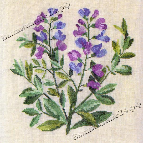 Схема вышивания крестом - Подалирия, цветы