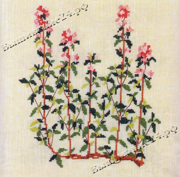 Схема вышивания крестом - Чабрец, цветы