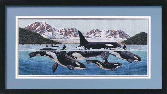 Вышивка бисером киты
