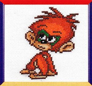 Схема вышивания крестом - Год обезьяны
