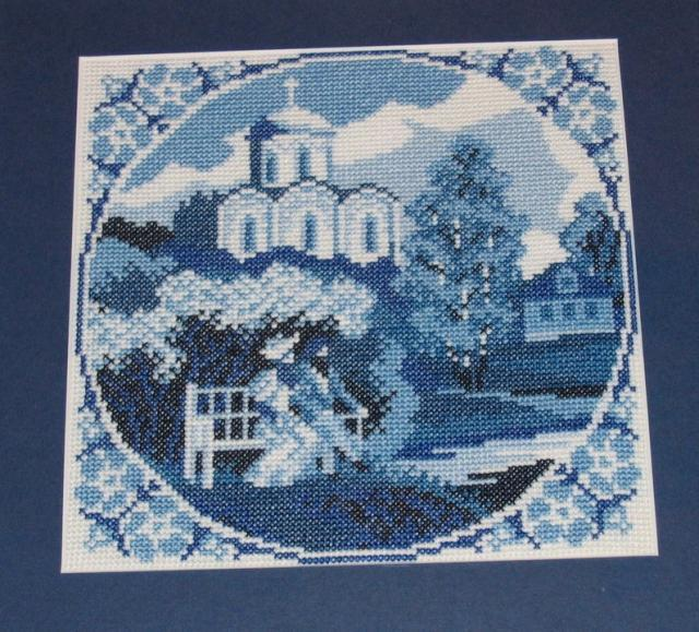 Схема вышивания крестом - Голубые сны