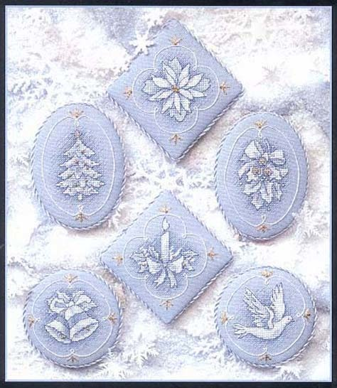 Схема вышивания крестом - Новогодние игрушки своими руками