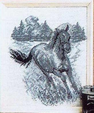 Лошадь схема для вышивания 457
