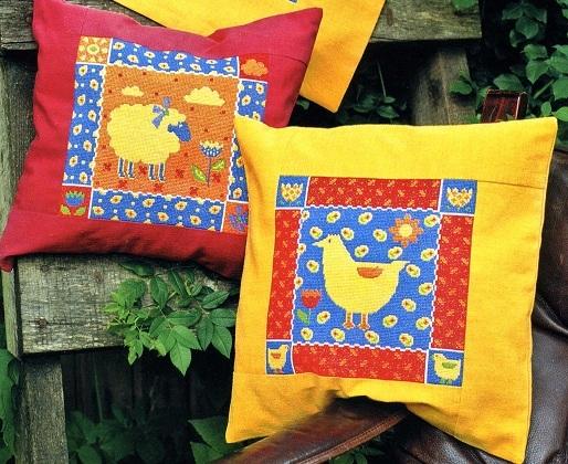 Схема вышивания крестом - Две подушки