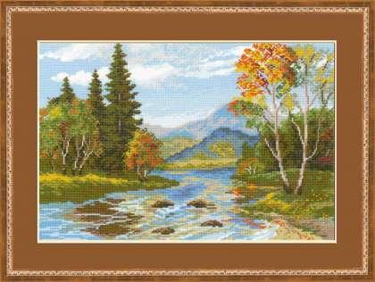 Схема вышивания крестом - Краски осени