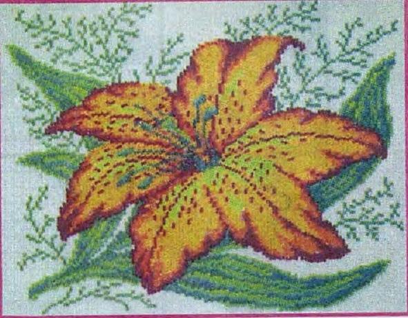 Схема вышивания бисером - Тигровая лилия