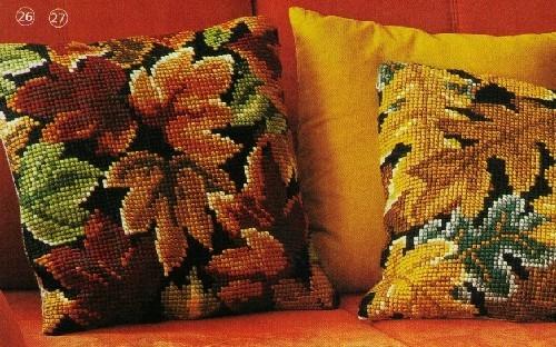 Подушки - схемы вышивки