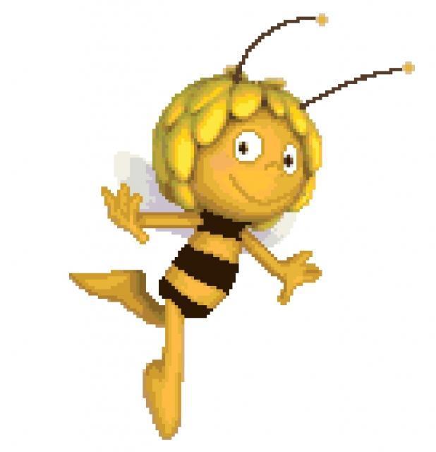 Схема вышивания крестом - Пчёлка Майя