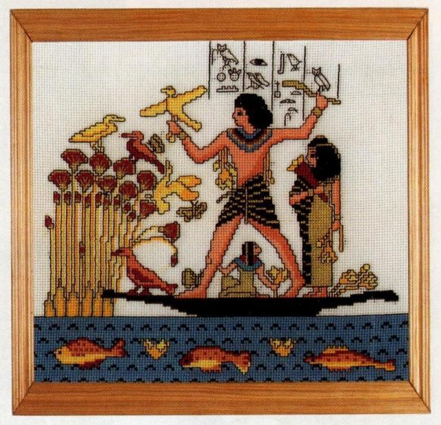 Схема вышивания крестом - Охота на Ниле