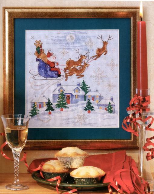 Схема вышивания крестом - С Новым годом!