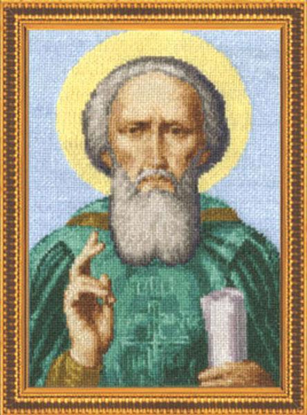 Схема вышивания крестом - Преподобный Сергий Радонежский