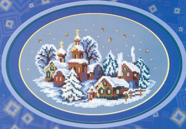 Схема вышивания крестом - Новогодняя ночь