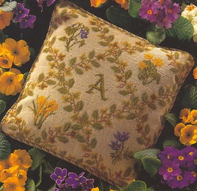 Схема вышивания крестом - Подушка