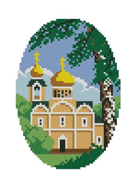 Схема вышивания крестом - День Святой Троицы