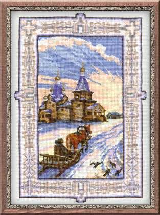 Схема вышивания крестом - Село