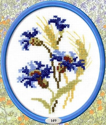 Схема вышивания крестом - Цветок