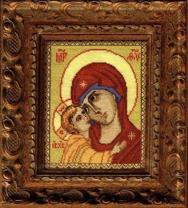 Схема вышивания крестом - Икона Богоматерь Игоревская