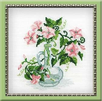 Схема вышивания крестом - Букет цветов