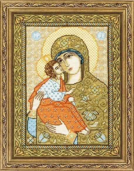 Схема вышивания крестом - Икона Божией Матери