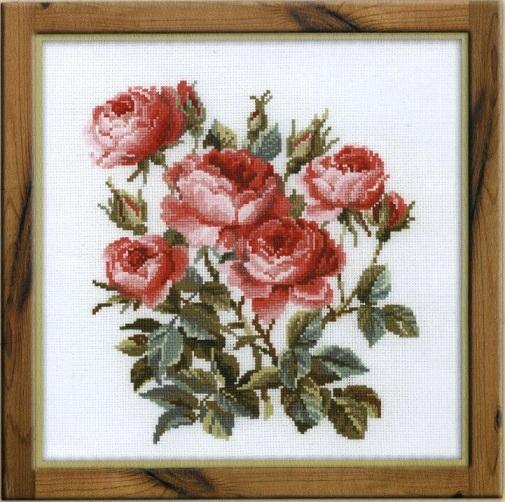 Схема вышивания крестом - Садовые розы