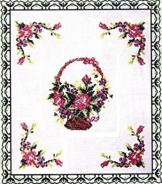 Схема вышивания крестом - Орнамент для скатерти