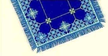 Схема вышивания крестом - Новогодняя салфетка