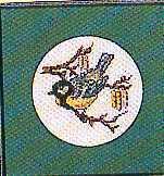 Схема вышивания крестом - Синичка