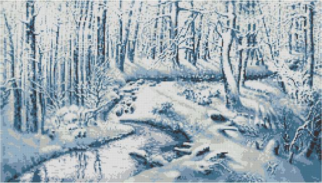 Схема вышивания крестом - Снежная сказка